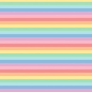 pastel rainbow stripes 2 horizontal