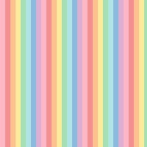 pastel rainbow stripes 2 vertical