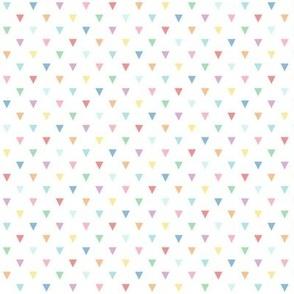 pastel rainbow triangles
