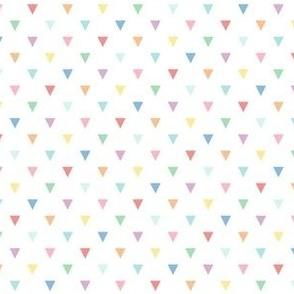 pastel rainbow fun triangles