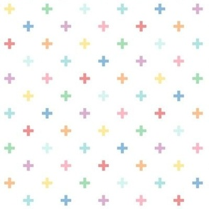 XL pastel rainbow fun crosses