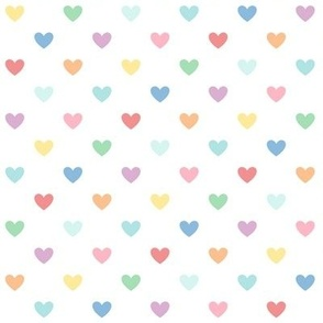 pastel rainbow hearts XL