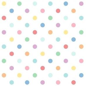 XL pastel rainbow fun polkas