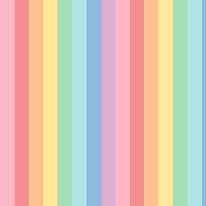 XL pastel rainbow stripes 2 vertical