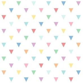 XL pastel rainbow fun triangles