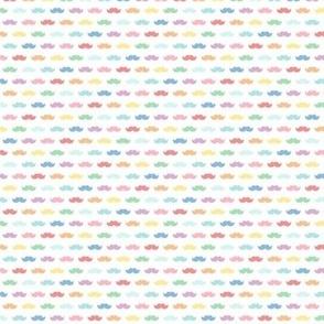 tiny pastel rainbow moustaches