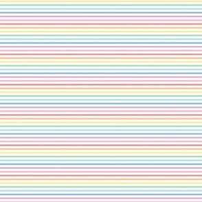 tiny pastel rainbow stripes 1 horizontal