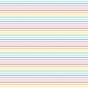 tiny pastel rainbow fun stripes no1 horizontal