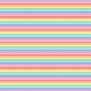 tiny pastel rainbow stripes 2 horizontal