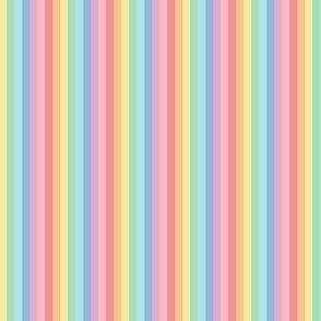 tiny pastel rainbow fun stripes no2 vertical