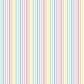 tiny pastel rainbow fun stripes no1 vertical