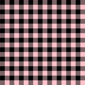 buffalo plaid 1in light pink