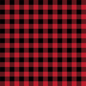 buffalo plaid 1in red