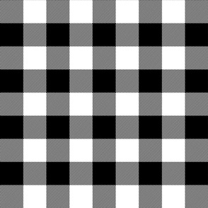 buffalo plaid 2in black and white