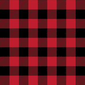 buffalo plaid 2in red