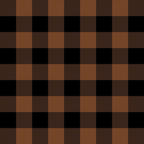 buffalo plaid 2in chocolate brown