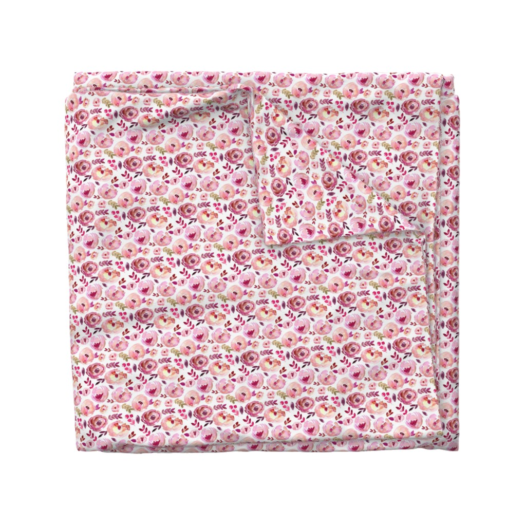 Wyandotte Duvet Cover featuring Valentine's Day Pink Magenta Red Loose Abstract Watercolor Florals  by smallhoursshop