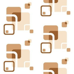 Stylized Flower Matching Blocks - 4in (coffee)