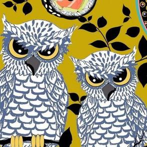 Halloween Owls & kawaii sushi, Weird