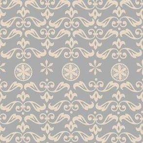 Art Nouveau Pattern In Gray