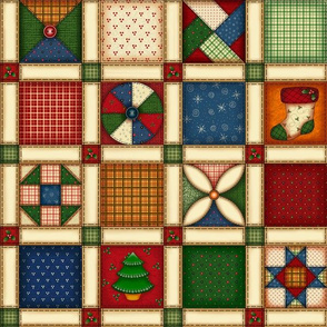 HH - Quilted Patch Print Large