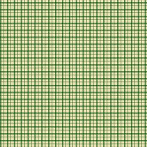 HH - Little Plaid Green on Cream