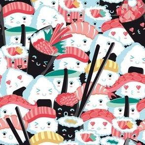 Small scale // Kawaii Sushi Crowd // salmon