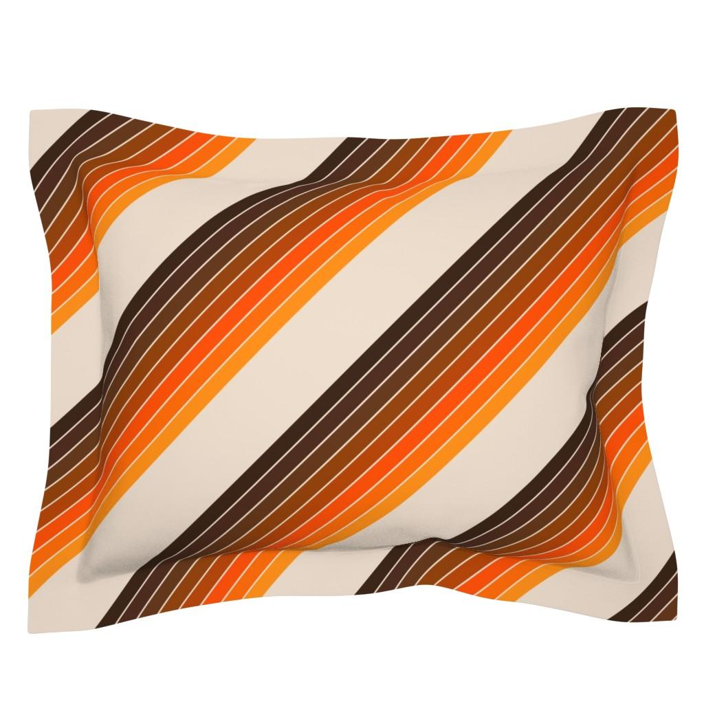 Sebright Pillow Sham featuring Candy Stripe // Golden by circa78designs