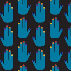 Pop Hands Blue