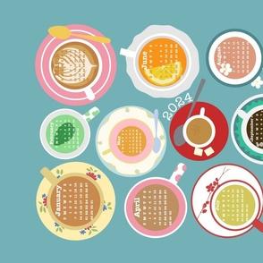 Cups! 2021 Calendar Tea Towel