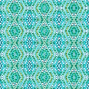 Tribal Diamonds - Aqua