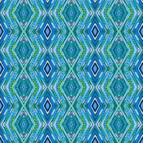 Tribal Diamonds - Blue