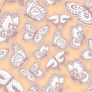 Peach_PlumButterflies