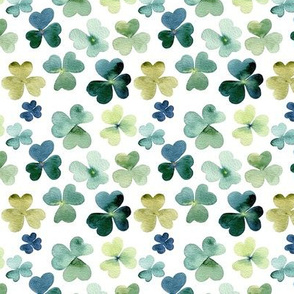 Shamrock Watercolor Garden // Micro