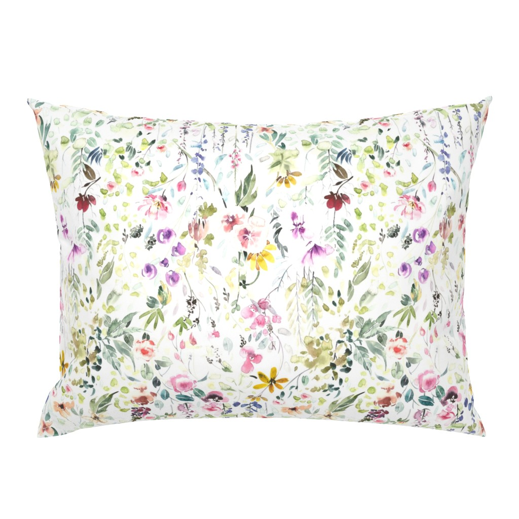 Campine Pillow Sham featuring Eame's Wildflower Meadow by hipkiddesigns
