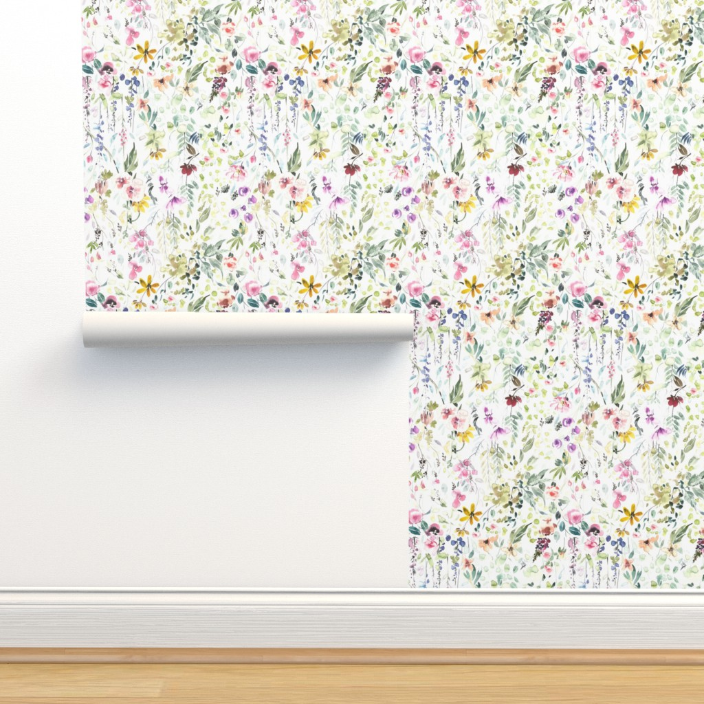 Isobar Durable Wallpaper featuring Eame's Wildflower Meadow by hipkiddesigns