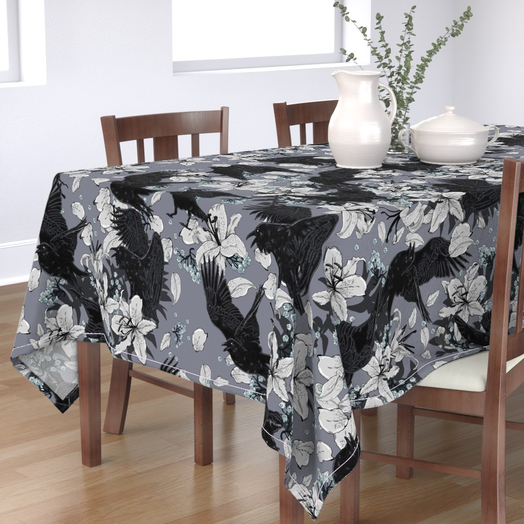 Bantam Rectangular Tablecloth featuring It' s Your Funeral by tracy_dixon