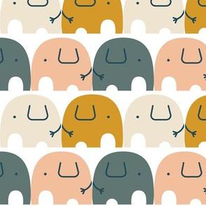 Elephant - peach