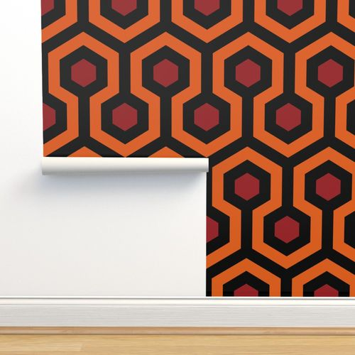 Wallpaper Overlook Hotel Carpet From The Shining Orangered