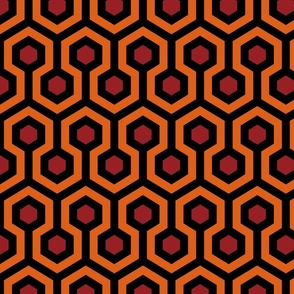 Overlook Hotel Carpet from The Shining: Orange/Red/Black (standard version)