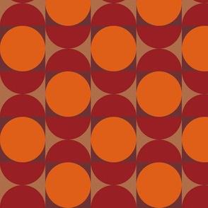 Geometric Pattern: Circle: Red/Orange