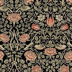 Medium Tudor Roses Black