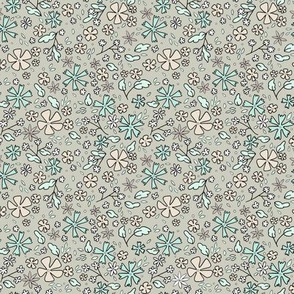 Tiny Floral - Teal // by Sweet Melody Designs
