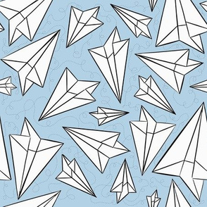 Paper Airplanes Powder Blue