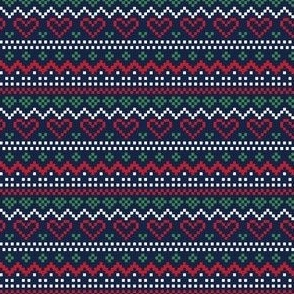 christmas knits red green on navy no1 fair isle