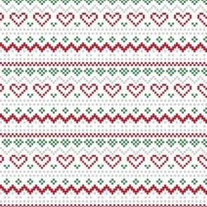 christmas knits red green no1 fair isle