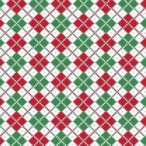 christmas knits red green no3 argyle