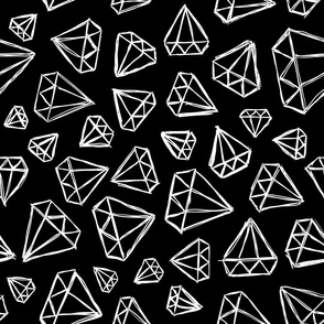 Rough Diamonds White Black