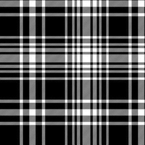 MacLean black and white tartan, 6""
