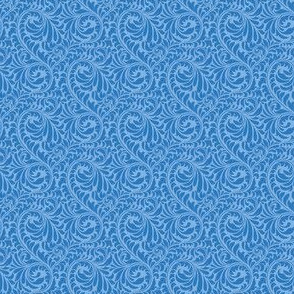 Leafy Swirl - 2in (dark blue)